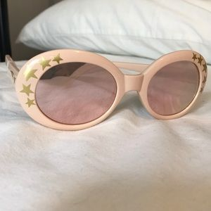 Free People Outta Sight Star Print Sunglasses Rose